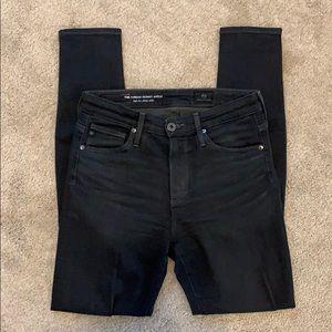 AG Dark Gray Farrah Skinny Jeans